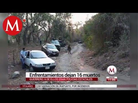 Enfrentamiento deja 16 muertos en Guerrero