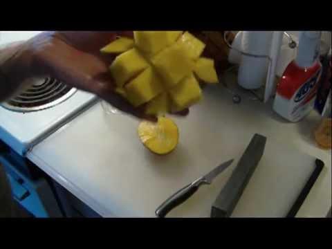 How to cut mango cubes youtube how to cut mango cubes ccuart Choice Image