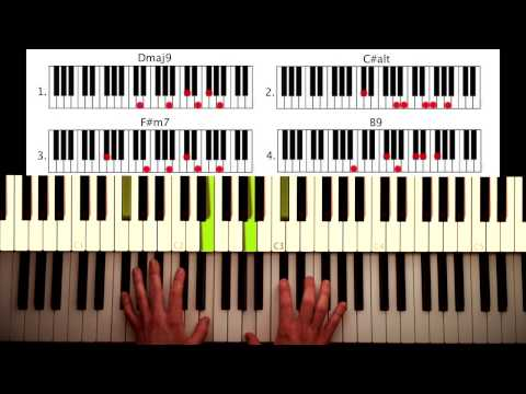 How to play: Do for love - 2 pac / Bobby Caldwell. Original Piano lesson. Tutorial by Piano Couture.