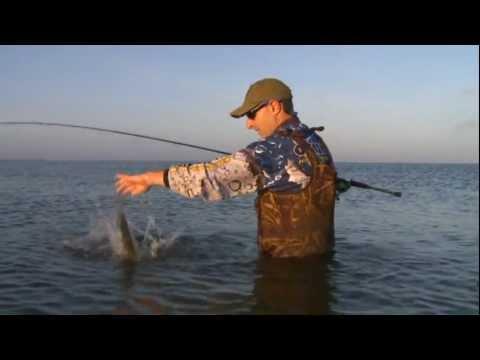 Wade Fishing in Big Lake, Lake Charles, Louisiana
