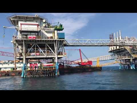 X-ray Alfa jatibarang work in offshore area