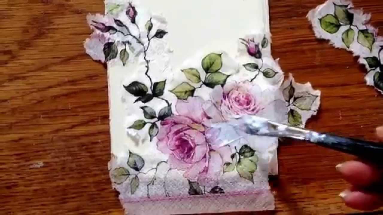 Decoupage med servietter , Annie Sloan decoupage glue and varnish