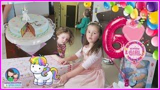 Pinata, Geschenke, Einhorn Kuchen🎁 Avas 6. Geburtstag Teil 2 🎂 Geschichten & Spielzeug Spezial