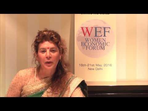 Interview about  participation in Women Economic Forum 2016, New Delhi, India