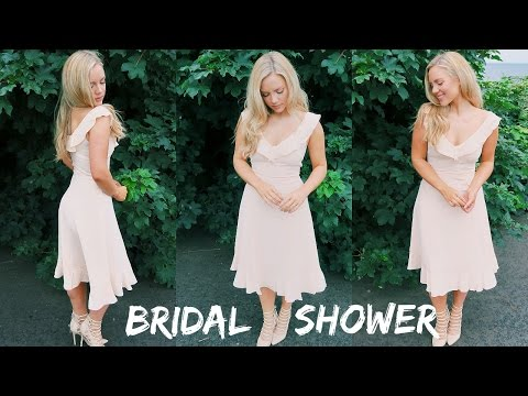 Bridal Shower Get Ready With Me || Makeup, Hair & Outfit