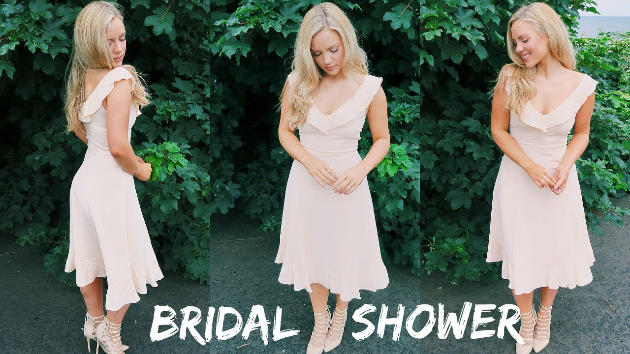 bridal shower get ready with me makeup hair outfit youtube