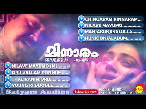 evergreen songs nonstop malayalam film songs varamanjal k j yesudas pranayavarnangal aniyathipravu ouseppachan vidyasagar meesamadhavan gireesh puthanchery devadoothan kaithapram m g sreekumar meenathil thaalikettu ayaal katha ezhuthukayanu raveendran summer in bathlehem k s chithra krishnagudiyil oru pranayakalathu mohan sithara s ramesan nair meghamalhaar p jayachandran top malayalam hits best of malayalam old malayalam film songs old film songs m jayachandran p jayachandran ennu ninte moidee minnaram is a malayalam musical film written and directed by priyadarsan ,starring mohanlal, shobana, thilakan, sankaradi, k. p. ummer, jagathy sreekumar, geetha vijayan, venu nagavally, and lalu alex  subscribe now satyam jukebox: https://www.youtub