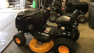How to remove mower deck on a Poulan Pro Lawn Tractor