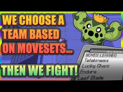 We Choose A Team Based On Random Movesets...Then We FIGHT!