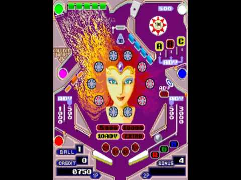 Pinball Action set 1 MAME Gameplay video Snapshot -Rom name pbaction-