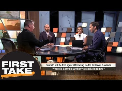 First Take reacts to Carmelo Anthony trade from OKC Thunder to Atlanta Hawks | First Take | ESPN
