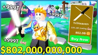 Buying The New $802,000,000,000 Light Saber In Roblox Saber Simulator!!