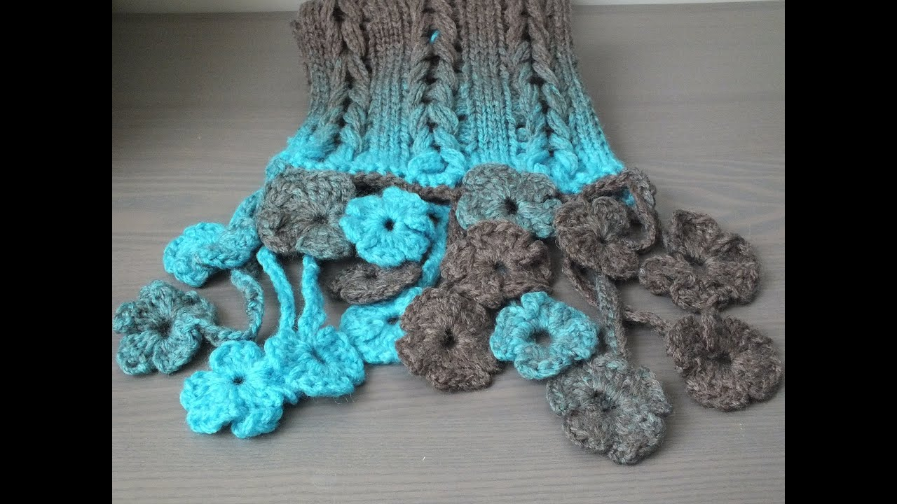 rand haken met bloemen / crochet flower border - YouTube