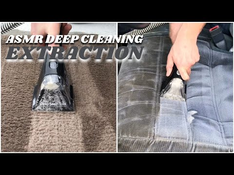 ASMR - Hot Water Extraction On Dirty Car Carpets, Floor Mats, and Seats