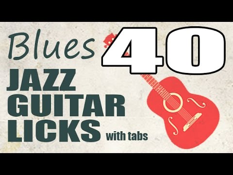 40 jazz blues guitar licks with tabs - PDF eBook trailer