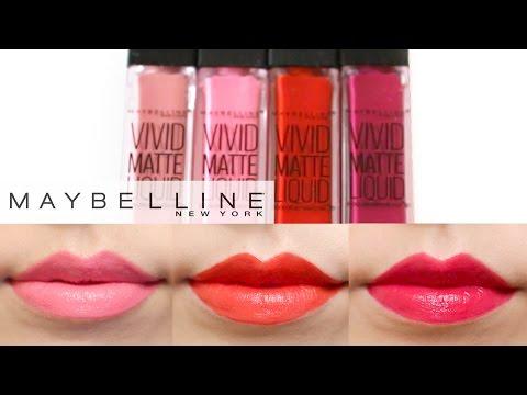 maybelline-vivid-matte-liquid-lip-color-lip-swatches-♡-4-colors