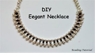 How to make a beaded necklace. Easy beading tutorial. Last minute DIY NECKLACE