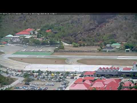 St-Barth.com Live Webcam - Avions au décollage