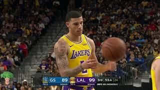 Lonzo Ball Full Lowlights 2018-10-10 Golden State Warriors vs Los Angeles Lakers