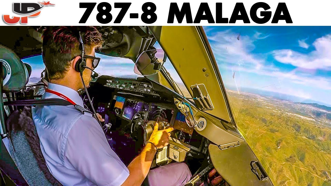 Download BOEING 787 Dreamliner into Malaga🇪🇸 | Cockpit & Pilotsview Landing