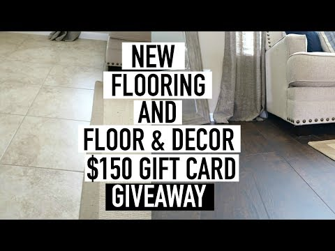 HOW TO INSTALL WOOD FLOORING OVER TILE + FLOOR & DECOR GIVEAWAY