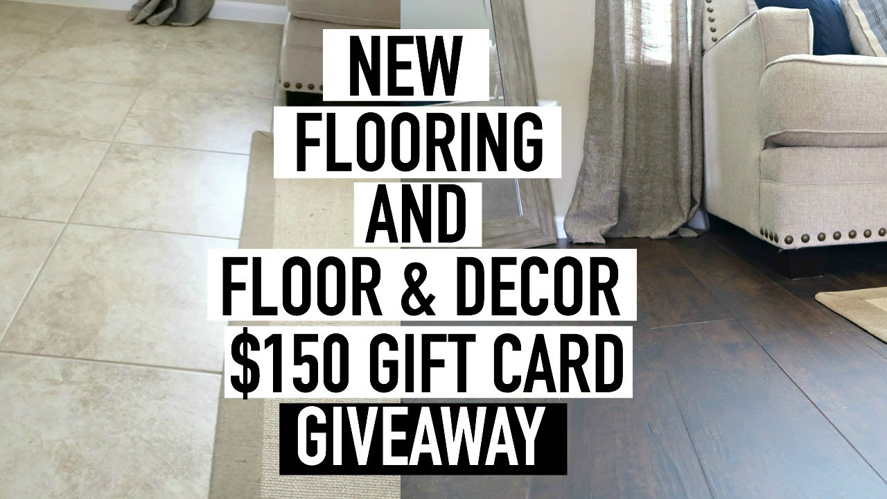 HOW TO INSTALL WOOD FLOORING OVER TILE + FLOOR & DECOR GIVEAWAY ...