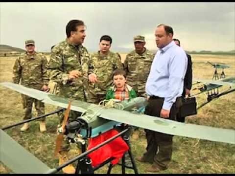 New UAV Unmanned Aerial Vehicle Georgia Georgian army defence industry military technology.mp4