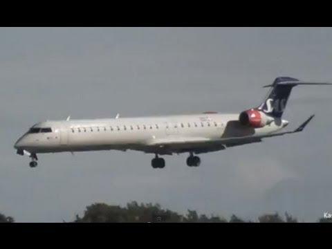 Emergency Landing at Copenhagen Airport (SAS CRJ-900 OY-KFE) FULL HD 1080p