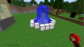 4. Как сделать подсветку фонтана в MineCraft(RedPower)
