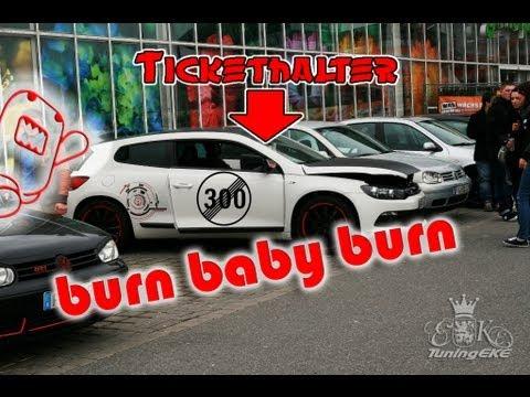 VW Scirocco Corrado Golf GTI burnout extreme loud Nachttreffen FN Tuning World Bodensee