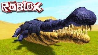 """Primal Life """"Roblox"""" (Gameplay/EN-US)-Playing Sarcosuchus! (#6)"""