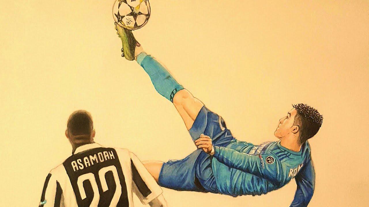 Il Piu Bel Goal In Italia Di Cristiano Ronaldo 2018 Speed Drawing
