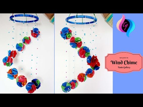 DIY - Wind chime - DIY Wall Hanging out of Paper - Home decoration idea