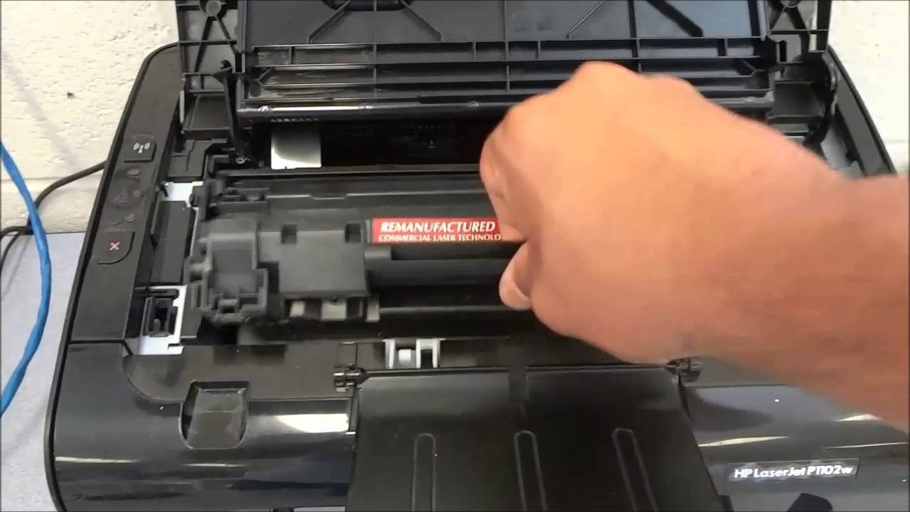 How to replace the toner cartridge on an hp laserjet printer p1102w how to replace the toner cartridge on an hp laserjet printer p1102w youtube fandeluxe Image collections