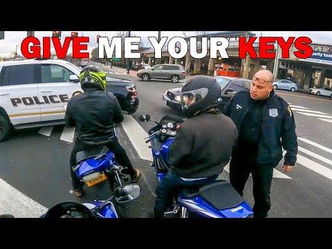 POLICE BLOCK BIKERS AT LIGHTS | ANGRY & COOL COPS vs BIKERS |  [ Episode 122]