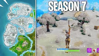 *NEW* Fortnite SEASON 7 SNOW MAP! - Blizzard Easter Egg! (Fortnite Battle Royale)