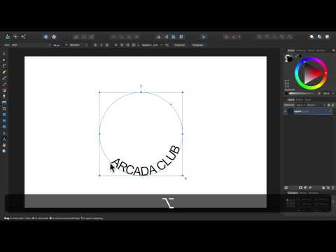 Affinity Designer - Text auf Pfad im Detail