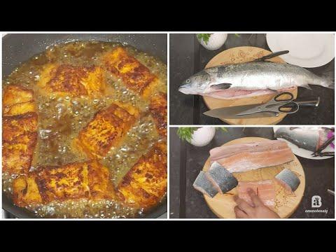 Sida Loo Nadiifiyo Lafaha Malayka Ama Kalluunka طريقة تنظيف السمك| How to Debone A Fish| Amenabeauty