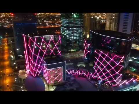 Gate Mall LED facade lighting Doha Qatar
