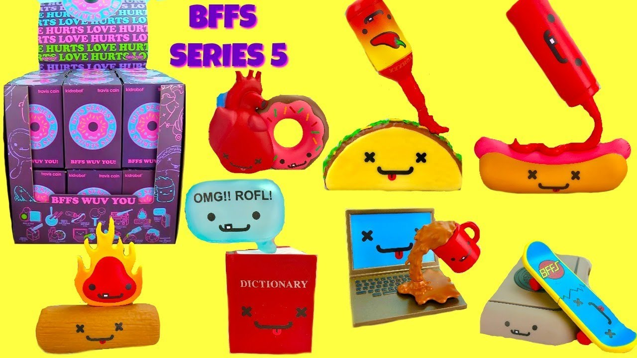 BFFS Love Hurts Series 5 Vinyl Toys Kidrobot Jobs /& Joe 2//24 Rarity