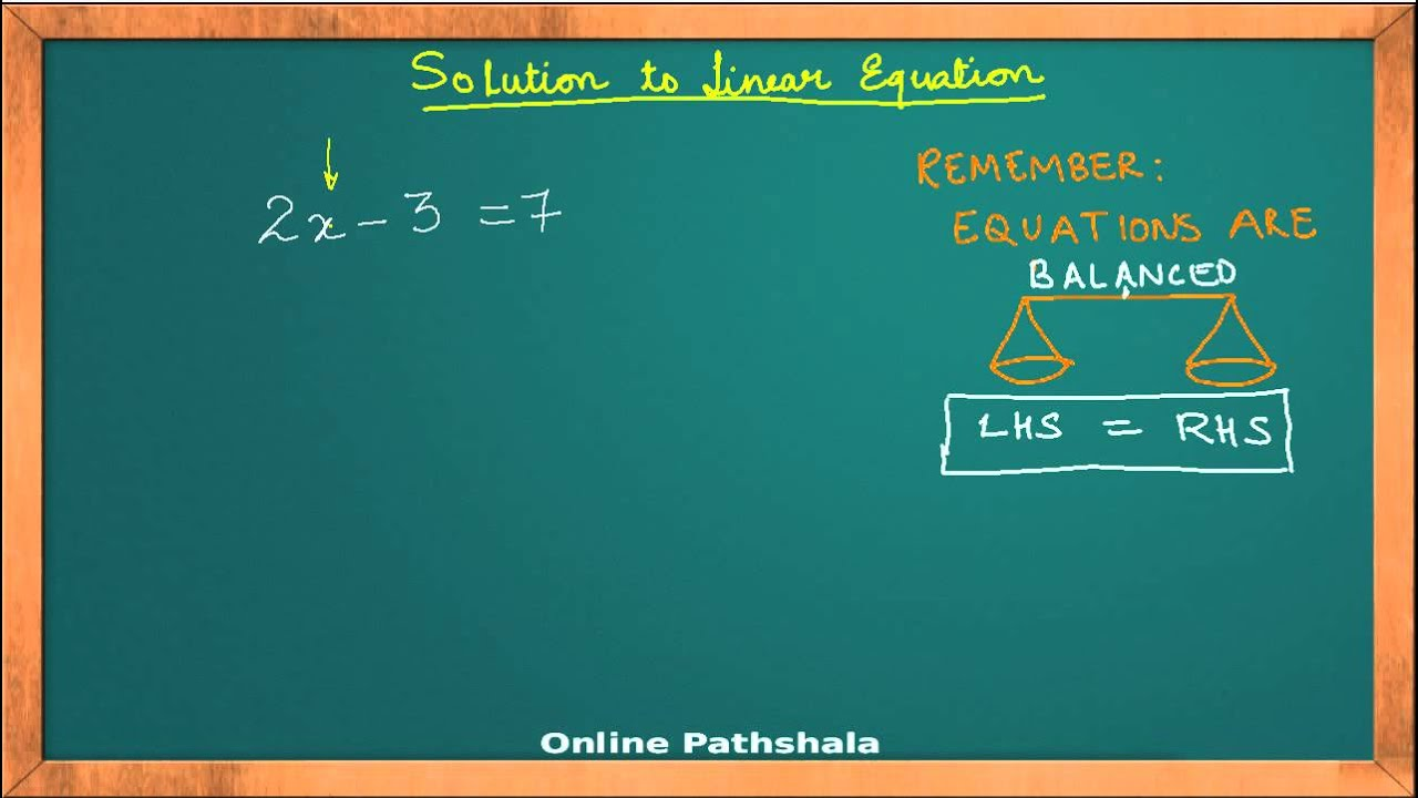 Ch02_01 Linear Equations in One Variable CBSE MATHS - YouTube