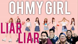 Video [4LadsReact] OH MY GIRL - Liar Liar MV download MP3, 3GP, MP4, WEBM, AVI, FLV Maret 2018