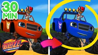 The Ultimate Spot The Difference w/ Blaze! 30 Minutes | Blaze and the Monster Machines