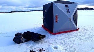 Зимняя рыбалка с палаткой и комфортом! Плотва, Оку...