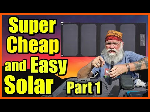 Super Cheap & Easy Solar with USB Devices & 30-Watt folding Panel: Part 1: TP Solar Intro to Series