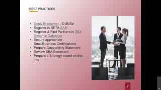 Strategies for Teaming, Partnering, and Subcontracting
