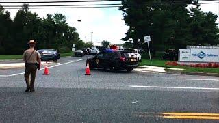 La police détourne la circulation après la fusillade au Maryland