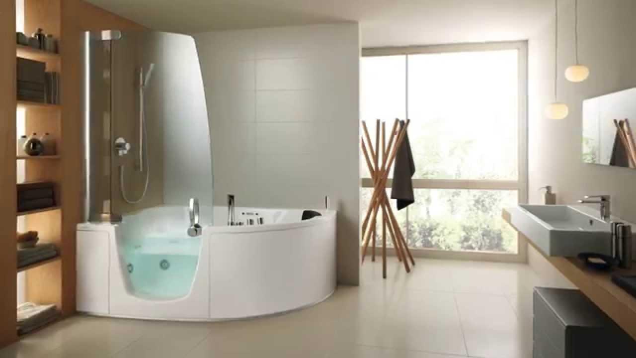 Teuco - Delsa Combi Units bathtub or a shower - YouTube