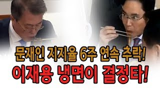 문재인 지지율 6주 추락, 이재용 냉면이 결정타! (진성호의 직썰!) / 신의한수