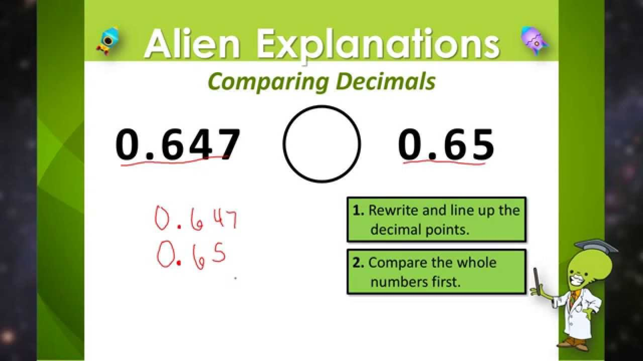 hight resolution of Comparing Decimals - 5th Grade - Education Galaxy - YouTube